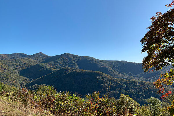 Balsam Mountains From Blueridge